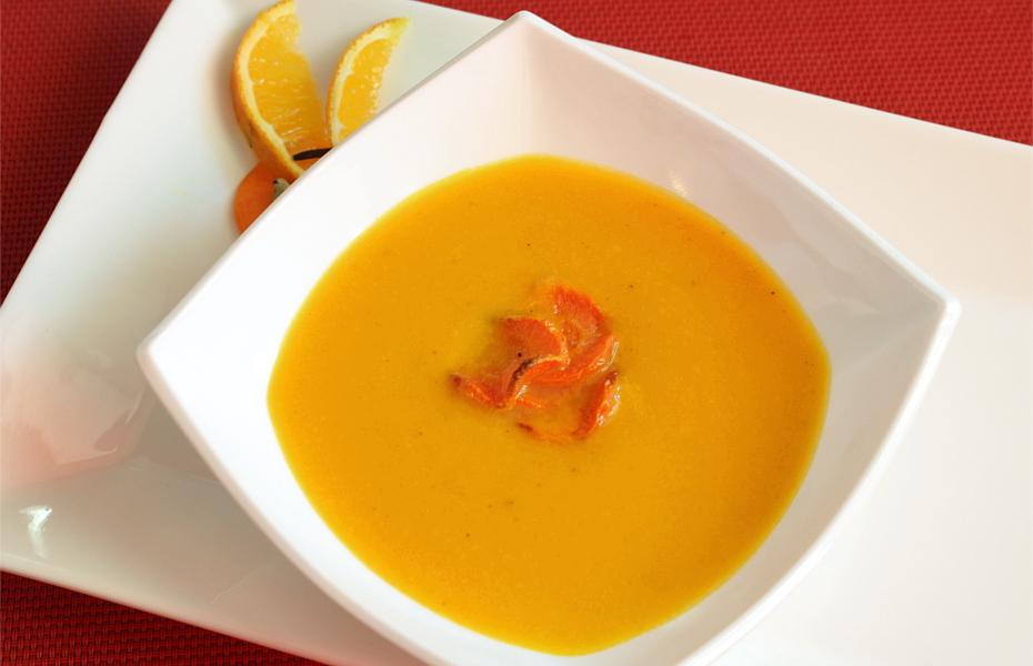 Zupa marchewkowo - pomarańczowa z imbirem