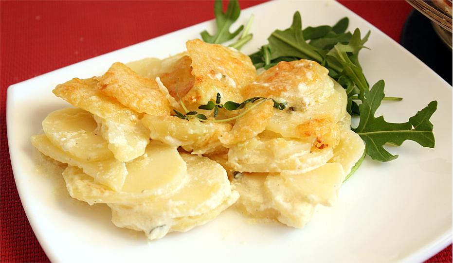 Ziemniaki zapiekane w śmietanie
