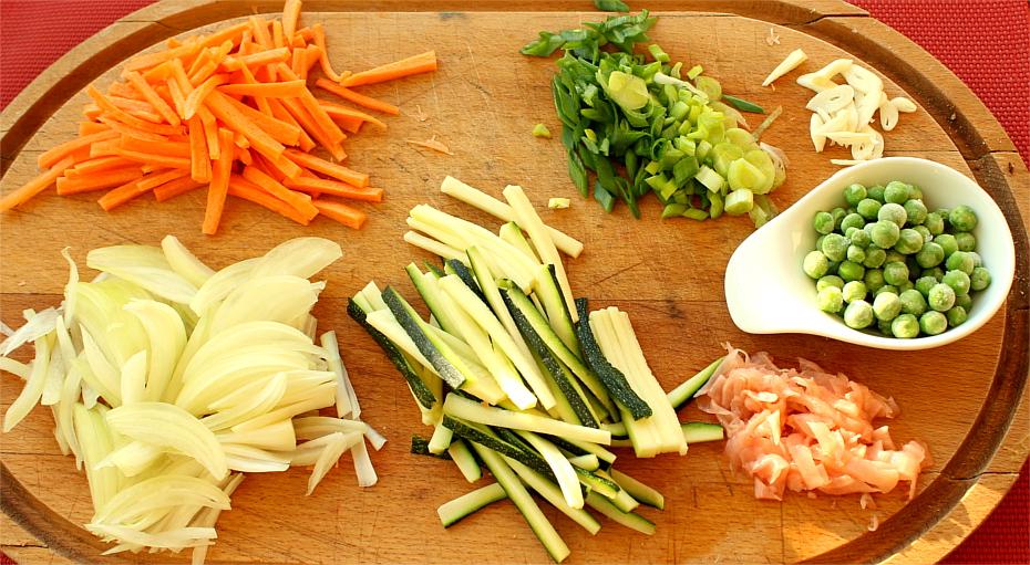 Warzywa na wonton