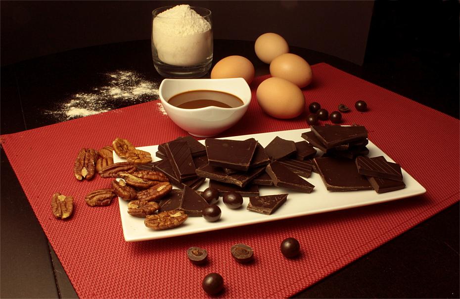 Czekoladowe brownies z orzechami pekan