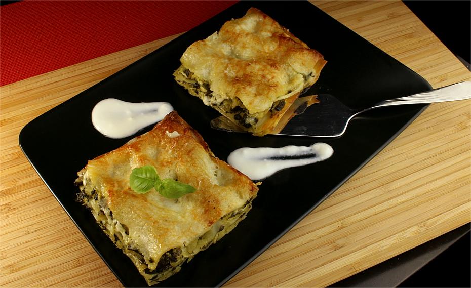 Zielona lasagne z cukinią i szpinakiem